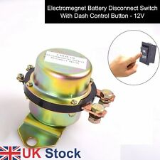 Car Auto 12V Dash Button Control Battery Switch Disconnect Latch Relay UK Ship
