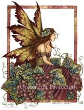 Amy Brown Print Harvest Jewel Grape Vine Fairy Faery Fall Autumn Fantasy Art new