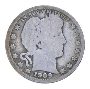 Better 1909 - US Barber 90% Silver Quarter Coin Collection Set Break *253