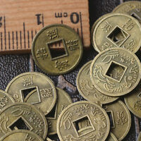 100Pcs Feng Shui Coins Ancient Chinese I Ching Coins For Health Wealth Charm DDE