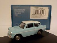 Ford Anglia - Blue (harry potter style) 1:76 Oxford Diecast Model Car British