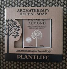 Plantlife Oatmeal Almond Aromatherapy Herbal Soap Bar Cruelty Free Vegan Gf Usa
