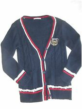 Tralala Liz Lisa Kogal Knitted button up cardigan in navy