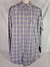 Wrangler George Strait Men's Shirt Cowboy Cut Plaid Long Sleeve Big And Tall XLT