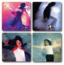 Michael Jackson Coasters - Set of 4 - High quality compressed hardwood backed