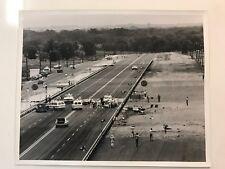 PAT FOSTER GERRY SCHWARTZ NHRA 1969 DALLAS SPRING NATIONALS ORIGINAL CRASH PHOTO