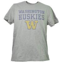 NCAA Washington Huskies Mens Adult Tshirt Tee Short Sleeve Crew Neck Gray Sports