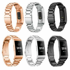 Replacement Stainless Steel Watch Band For Fitbit Charge 3 Metal Strap Bracelet