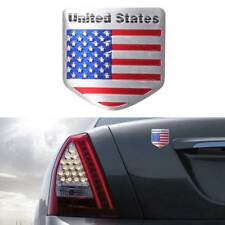 1pc Car Door Fenders Tailgate Metal American Flag Shield USA Logo Sticker Badge