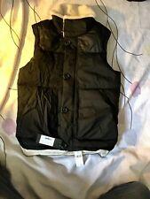 $1195 z zegna men shearling collar leather shoulder nylon body goose down black