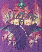 VTG.80's OZZY OSBOURNE FLAMES  SKULLS-CROSS GRAPHIC-TOUR CONCERT-T-SHIRT-XL-RARE