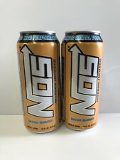 Nos Energy Drink Nitro Mango 16oz Cans. Total 2 Full Cans Lot