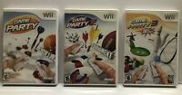 Game Party 1 2 & 3 - Nintendo Wii - Complete w/ Manual - Tested - Free Ship