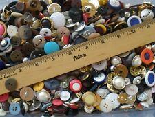 4 lbs Bulk Buttons lot Mix #2 many vintage sew craft metallic plastic 2H4H shank