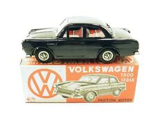 Vintage Japanese Ichimura tinplate friction powered Volkswagen 1500 Sedan car