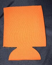 Orange 25 Pack Huggie Can Bottle Koozie Blank Collapsible Summer Screenprint