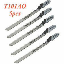5X T101Ao Hcs T-Shank Jigsaw Blades Curve Cutting Tool Tpi 20 For Wood Plastic