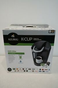 BRAND NEW KEURIG K45 ELITE BREWING SYSTEM BLACK IN BOX NEVER USED COFFE SYSTEM!!
