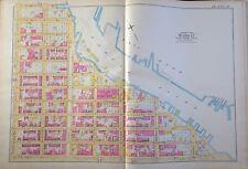 1891 E. ROBINSON SPANISH EAST HARLEM MANHATTAN NY MAP ATLAS E. 125th-136th ST