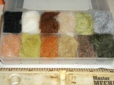 Plastic Dubbing box filled with 12 colors of Antron Dubbing
