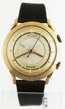 Vintage 1950s LeCoultre Wrist Alarm 10K Gold Filled Watch Cal 814 K814 Memovox