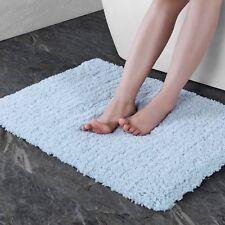 "Bath Mat with Non-slip Rubber Luxury Soft Bathroom Floor Mat 17""x27"" Light Blue"