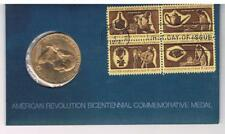 1972 - American Revolution Bicentennial George Washington Medal & Stamps - FDC
