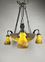 Muller Freres Luneville Art Deco Chandelier Ceiling Light Deckenlampe Leuchter