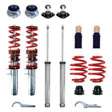 RS Premium Gewindefahrwerk RED SERIES Stoßdämpfer Gas Domlager BMW 3er E46 NEU