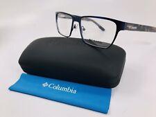New COLUMBIA C3014 413 Satin Navy Eyeglasses 54mm with Case
