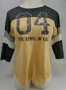 "NWT Maurices 3/4 Sleeve ""The Rebel In You"" Shirt Size M"