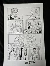 "Val Mayerik Signed Badger #3 Page Hand Drawn Comic Interior Page 17""x11"" #Vm"