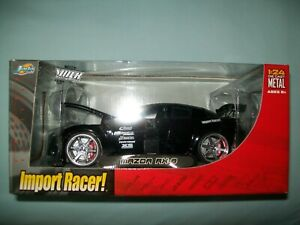 Jada Import Racer Mazda RX8 Black 1:24 Scale Car NIB VHTF