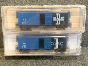 2 N Scale BLW 40' Boston & Maine Boxcars BM #73032 B&M 73085 Brooklyn Locomotive