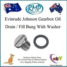A Brand New Evinrude Johnson Gearbox Oil Drain / Fill Bung With Seal # 307551