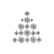 PENNY BLACK RUBBER STAMPS CRYSTAL TREE CHRISTMAS STAMP