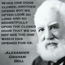 Alexander Graham Bell QUOTE - Printed Patch - Sew On - Bag, Backpack, Jacket!