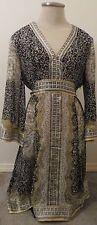 INC Int Concepts 100% Silk Boho Blouse / Dress Komono 3/4 Sleeve - Size 10