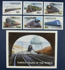 Granada 1982 ferrocarril trains Railroads Locomotives 1153-58 + bloque 105 ** mnh
