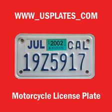MOTO CALIFORNIA MOTORCYCLE LICENSE PLATE TAG BIKE HARLEY INDIAN US CYCLE VICTORY