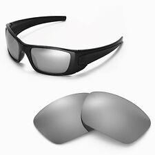 New Walleva Titanium Replacement Lenses For Oakley Fuel Cell Sunglasses