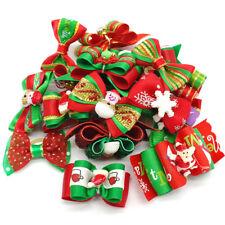 20/100pcs Pet Christmas Hair Bows Cute Bowknot Hair Clip Grooming Dog Cat Bows