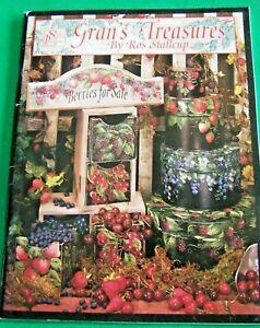 GRAN'S TREASURES BY ROS STALLCUP 1996 SCHEEWE BERRIES FLOWERS LIGHTHOUSES