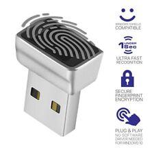 USB Fingerprint Reader for Windows 10 Hello, Biometric Scanner for Laptops & W2E