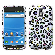For T-Mobile Samsung Galaxy S II 2 HARD Case Phone Cover White Rainbow Leopard