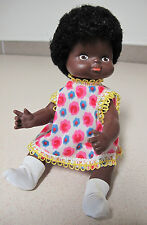 Russian German Black African Doll hard plastic rubber vintage Африканка кукла