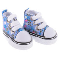 1/6 Doll Lace-up High Canvas Shoes Blue for 12inch BJD Doll Changing Kits