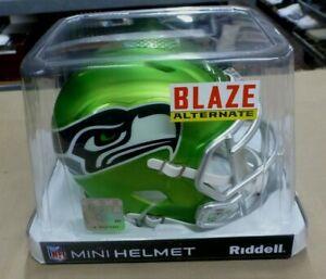 New Riddell NFL Blaze Speed Alternate Seattle Seahawks Mini-Helmet 8053677