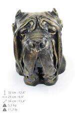 Neapolitan Mastiff cropped, dog head urn made of Resin, ArtDog, Usa