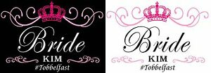 Personalised CROWN hen party iron on t-shirt transfers a5 a4